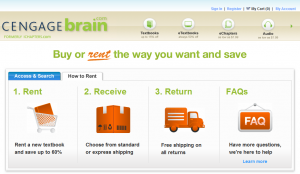 CengageBrain makes renting easy and inexpensive