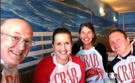 "Do you know the way to PISMO BEACH?? Some of the family came with us... nephew Scott and daughter Karen! Fun times at the ""CRACKED CRAB""!"