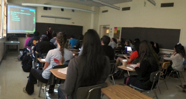 My Daughter Karens Sociam Media presntation in one of my 4 classes. It was a busy day for Professor Freberg 2.0