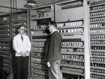 This first computer in 1948 could hold a whopping 8kb.