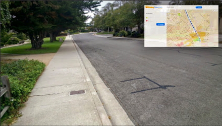 Walking around my neighborhood with Google Glass testing out their map function! Awesome!