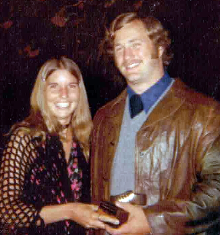 the 12th was Roger and my 42nd wedding anniversary! Here we are in 1974 ( married 2 years) dressed very 70's California.